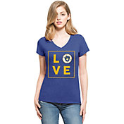 '47 Women's Milwaukee Brewers Club Royal V-Neck T-Shirt