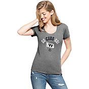 "'47 Women's Chicago Cubs ""Go Cubs Go!"" Grey T-Shirt"