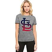 '47 Women's St. Louis Cardinals Super Hero Grey Scoop Neck T-Shirt