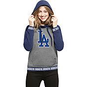 '47 Women's Los Angeles Dodgers Grey Encore Pullover Hoodie