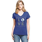 '47 Women's Los Angeles Dodgers Club Royal V-Neck T-Shirt