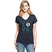 '47 Women's Seattle Mariners Club Navy V-Neck T-Shirt