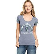 '47 Women's Seattle Mariners Fantasy Navy Scoop Neck T-Shirt