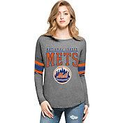 '47 Women's New York Mets Grey Courtside Long Sleeve Shirt