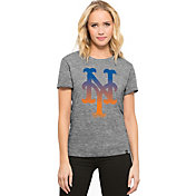 '47 Women's New York Mets Super Hero Grey Scoop Neck T-Shirt