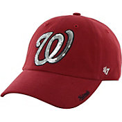 '47 Women's Washington Nationals Sparkle Red Adjustable Hat