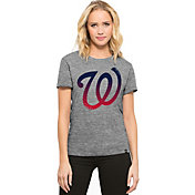 '47 Women's Washington Nationals Super Hero Grey Scoop Neck T-Shirt