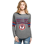 '47 Women's Philadelphia Phillies Grey Courtside Long Sleeve Shirt