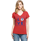 '47 Women's Philadelphia Phillies Club Red V-Neck T-Shirt