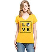 '47 Women's Pittsburgh Pirates Club Gold V-Neck T-Shirt