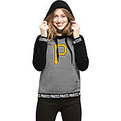'47 Women's Pittsburgh Pirates Grey Encore Pullover Hoodie