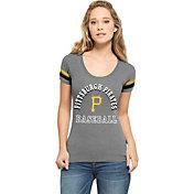 '47 Women's Pittsburgh Pirates Fantasy Grey Scoop Neck T-Shirt