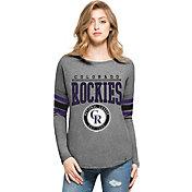 '47 Women's Colorado Rockies Grey Courtside Long Sleeve Shirt