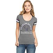 '47 Women's Colorado Rockies Fantasy Grey Scoop Neck T-Shirt