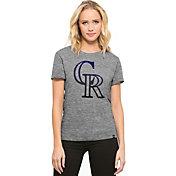 '47 Women's Colorado Rockies Super Hero Grey Scoop Neck T-Shirt