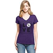 '47 Women's Colorado Rockies Club Purple V-Neck T-Shirt