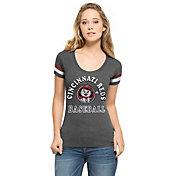 '47 Women's Cincinnati Reds Fantasy Black Scoop Neck T-Shirt