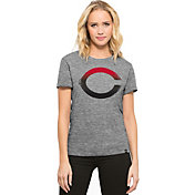 '47 Women's Cincinnati Reds Super Hero Grey Scoop Neck T-Shirt