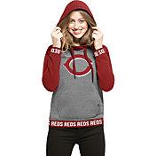 '47 Women's Cincinnati Reds Grey Encore Pullover Hoodie