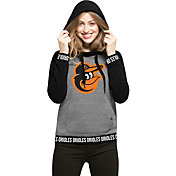 '47 Women's Baltimore Orioles Grey Encore Pullover Hoodie