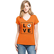 '47 Women's Baltimore Orioles Club Orange V-Neck T-Shirt