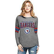 '47 Women's Texas Rangers Grey Courtside Long Sleeve Shirt