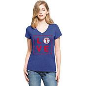 '47 Women's Texas Rangers Club Royal V-Neck T-Shirt
