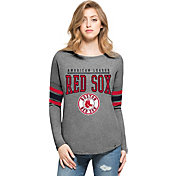 '47 Women's Boston Red Sox Grey Courtside Long Sleeve Shirt