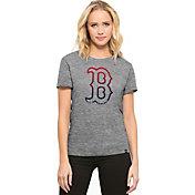 '47 Women's Boston Red Sox Super Hero Grey Scoop Neck T-Shirt