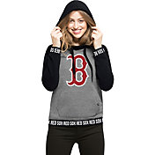 '47 Women's Boston Red Sox Grey Encore Pullover Hoodie