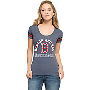 '47 Women's Boston Red Sox Fantasy Navy Scoop Neck T-Shirt