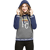 '47 Women's Kansas City Royals Grey Encore Pullover Hoodie