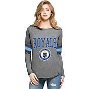 '47 Women's Kansas City Royals Grey Courtside Long Sleeve Shirt