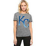 '47 Women's Kansas City Royals Super Hero Grey Scoop Neck T-Shirt