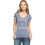 '47 Women's Kansas City Royals Fantasy Royal Scoop Neck T-Shirt