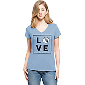 '47 Women's Tampa Bay Rays Club Blue V-Neck T-Shirt