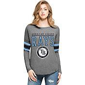 '47 Women's Tampa Bay Rays Grey Courtside Long Sleeve Shirt