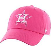 '47 Women's Houston Astros Clean Up Pink Adjustable Hat