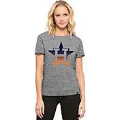 '47 Women's Houston Astros Super Hero Grey Scoop Neck T-Shirt