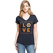 '47 Women's Houston Astros Club Navy V-Neck T-Shirt