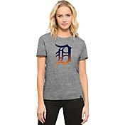 '47 Women's Detroit Tigers Super Hero Grey Scoop Neck T-Shirt
