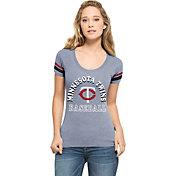 '47 Women's Minnesota Twins Fantasy Navy Scoop Neck T-Shirt