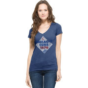 '47 Women's Chicago Cubs Scrum Royal V-Neck T-Shirt