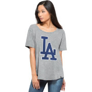 '47 Women's Los Angeles Dodgers Boyfriend Grey T-Shirt