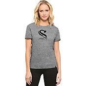 '47 Women's Chicago White Sox Super Hero Grey Scoop Neck T-Shirt