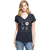 '47 Women's New York Yankees Club Navy V-Neck T-Shirt