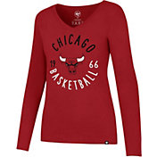 '47 Women's Chicago Bulls Splitter Long Sleeve Shirt