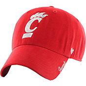'47 Women's Cincinnati Bearcats Red Sparkle Clean-Up Adjustable Hat