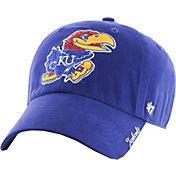 '47 Women's Kansas Jayhawks Blue Sparkle Clean-Up Adjustable Hat