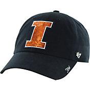 '47 Women's Illinois Fighting Illini Blue Sparkle Clean-Up Adjustable Hat